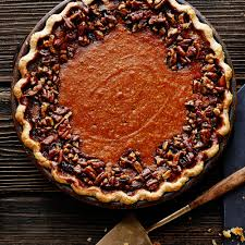 Pumpkin Pie With Pecan Praline Topping by Thanksgiving Desserts Sunset