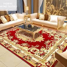 2400MMx3300MM Elegant American Rustic Floral Living Room RugModern European Carpets For