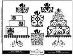 Damask Wedding Clip Art