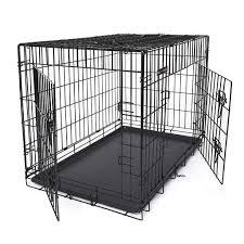 feandrea hundebox 106 x 77 5 x 70 cm hundekäfig faltbar 2 türen drahtkäfig gitterbox transportbox für katzen hasen nager kaninchen