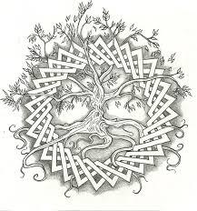 Wonderful Celtic Tree Tattoo Design