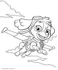 Remarkable Sk Coloring Paw Patrol Pages Sky