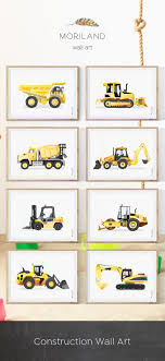 Backhoe Print, Digger Art, Construction Print, Toddler Boy Room ...