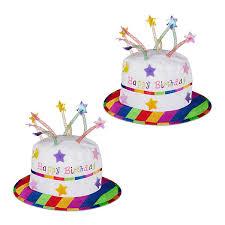 2 x happy birthday hut torte kerzen geburtstagshut partyhut plüschhut geburtstag relaxdays
