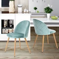 set 2 esszimmer stuhl kaffee stuhl coavas samt kissen