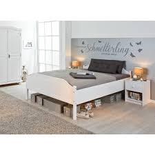 bett doppelbett karlo massivholz weiss 180 x 200 cm schlafzimmer
