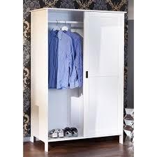 armoire chambre 120 cm largeur armoire en pin massif 2 portes coulissantes mafra achat vente