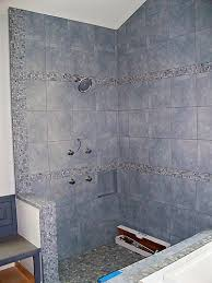 show me your glass mosaic tile borders in your shower