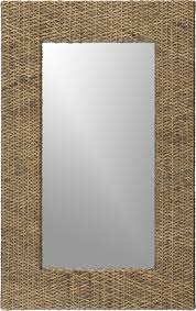 Crate And Barrel Tribeca Floor Lamp by Woven Rattan Wall Mirror Crate And Barrel 30