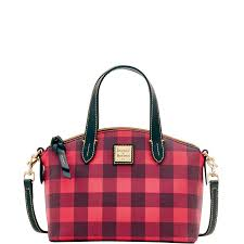 dooney bourke ruby small bag black buffalo plaid ebay
