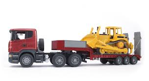 SCANIA R-series Low Loader Truck With Caterpillar Bulldozer #03556