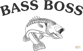 Click The Bass Fish Coloring Pages
