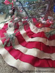 Burlap Tree Skirt No Sew DIY