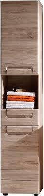 trendteam smart living badezimmer hochschrank schrank malea 37 x 184 x 31 cm in eiche san remo hell nb mit offenem fach