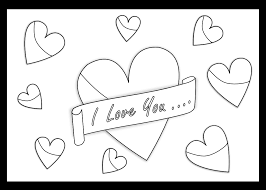 I Love You Art Coloring Book Colouring Sheet Page Black White Line 1111px 162K