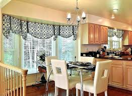 Bay Window In Dining Room Modern Curtains Valances For Valance