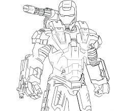 Iron Man War Machine Coloring Pages Printable Marvel