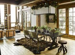 Rustic Home Decor Douglas Friedman Montana Mountain Dining Room
