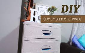 Sterilite 4 Drawer Cabinet by Diy Drawer Hack Glam Up Your Plastic Drawers Youtube