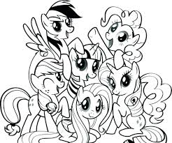 Pony Coloring Pages Pie Page My Little Pinkie