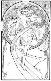 Alphonse Mucha Coloring Page