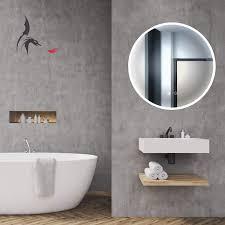 hoko runder led bad spiegel freiburg 80cm mit antibeschlag