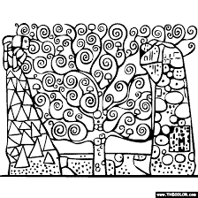 Gustav Klimts Tree Of Life Coloring Page