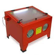 Central Pneumatic Blast Cabinet by Central Pneumatic 40 Lb Capacity Floor Blast Cabinet