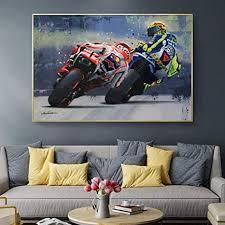 motorrad racer poster und drucke coole mädchen bilder für