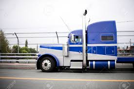 100 Truck Tractor Profile Of The Blue American Classic Popular Powerful Big Rig