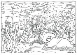 Printable Fish Aquarium Scene Coloring By TriciaGriffithArts