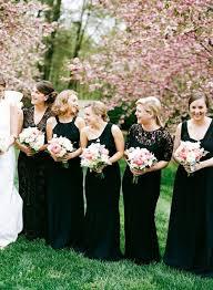 Black mismatched bridesmaid dresses