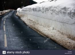 Snow Drift By Road Hardens Hill DunsScottish Borders