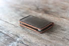 credit card holder handmade leather personalized gift idea