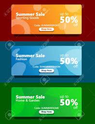 100 Fresh Home And Garden Simple Modern Fresh Vibrant Color Web Banner Set Summer Sale