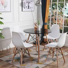 details zu rund tisch mit 2 4 weiß skandinavisch stühle für esszimmer essgruppe buche holz