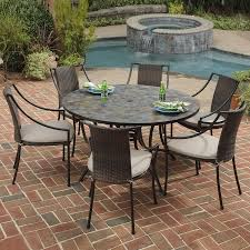 9 Piece Outdoor Dining Set Costco Patio Furniture Clearance Sale 6 Person Table Dimensions 60 Inch Round Glass
