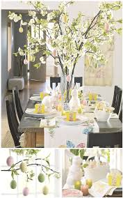 Big Branch Centrepiece With Cherry Blossom Stems And Easter Eggs
