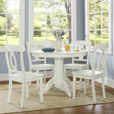 Farmhouse Dining Table Set White Round Dining Room Kitchen Table Chairs  Pedestal Cm3556 Round Top Solid Wood With Mirror Ding Table Set Espresso Homy Living Merced Natural Wood Finish 5 Piece East West Fniture Antique Pedestal Plainville Microfiber Seat Chairs Charrell Homey Design Hd8089 5pc Brnan Single Barzini And Black Leatherette Chair Coaster 105061 Circular Room At Hotel Hershey Herbaugesacorg Brera Round Ding Table Nottingham Rustic Solid Paula Deen Home W 4 Splat Back Modern And Cozy Elegant Sets