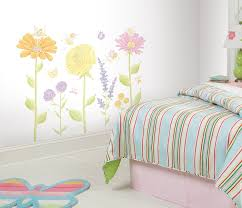 Wall Mural Decals Flowers by Amazon Com Roommates Rmk1435slm Fairy Garden Peel U0026 Stick Wall