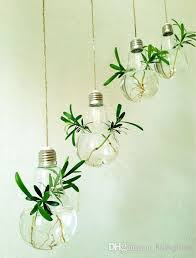 wholesale fashion light bulb shape glass hanging terrarium bulb