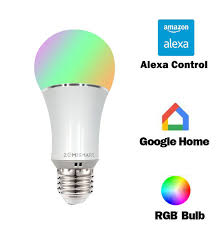 dimmable e27 wifi rgb led bulb light voice by echo