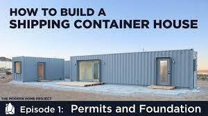 104 Building House Out Of Shipping Containers A Container Home Ep01permits And Foundation Design Youtube