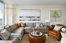 Coastal Living Room With Leather Sofa Bedrooms