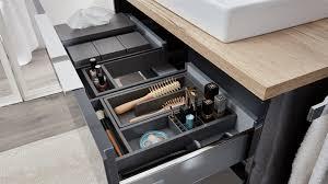 interliving bad serie 3701 schubladenorganizer schwarzer kunststoff für ca 90 cm breite