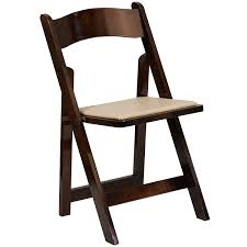 Mahogany Folding Garden Chairs With Tan Pads