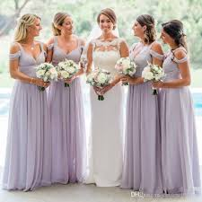 2018 Country Lavender Bridesmaid Dresses Custom Made Bridesmaids