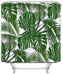 lb tropische pflanze dekor duschvorhang monstera
