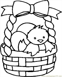 Coloring Pages Easter Basket 22 Entertainment Holidays