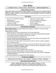 Medical Billing Resume Sample